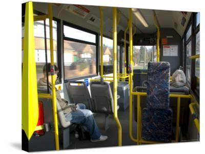 Interior of a Public Bus, England, United Kingdom-Charles Bowman-Stretched Canvas Print