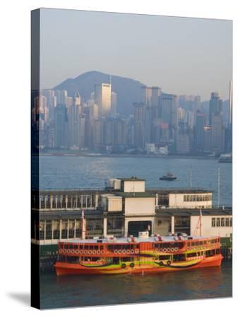 Star Ferry Pier, Kowloon, Hong Kong, China-Charles Bowman-Stretched Canvas Print