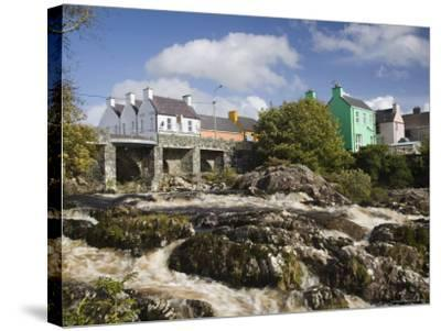 Sneem River Below Road Bridge in Village on Ring of Kerry Tourist Route, Iveragh Peninsula, Munster-Pearl Bucknall-Stretched Canvas Print