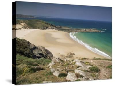 Beach Near Cap Frehel, Emerald Coast, Brittany, France-Michael Busselle-Stretched Canvas Print