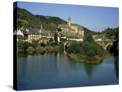 Village of Estaing, Aveyron, Midi Pyrenees, France-Michael Busselle-Stretched Canvas Print