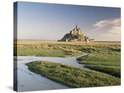 Mont St. Michel, Unesco World Heritage Site, Basse Normandie, France-Michael Busselle-Stretched Canvas Print