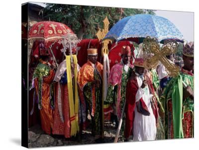 Procession for Christian Festival of Rameaux, Axoum (Axum) (Aksum), Tigre Region, Ethiopia, Africa-Bruno Barbier-Stretched Canvas Print