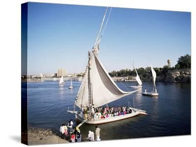 Feluccas on the River Nile, Aswan, Egypt, North Africa, Africa-Philip Craven-Stretched Canvas Print