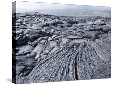 Cooled Lava from Recent Eruption, Kilauea Volcano, Hawaii Volcanoes National Park, Island of Hawaii-Ethel Davies-Stretched Canvas Print