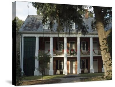 Shadows on the Teche Plantation House, New Iberia, Louisiana, USA-Ethel Davies-Stretched Canvas Print