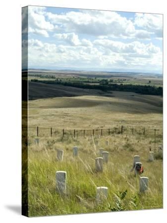 Site of Massacre, Including Where Custer Fell, Little Big Horn, Montana, USA-Ethel Davies-Stretched Canvas Print