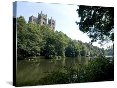Cathedral Overlooking River Wear, Unesco World Heritage Site, Durham, County Durham, England-Ethel Davies-Stretched Canvas Print