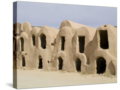 Berber Grain Storage Units, Now a Hotel, Ksar Halouf, Tunisia, North Africa, Africa-Ethel Davies-Stretched Canvas Print