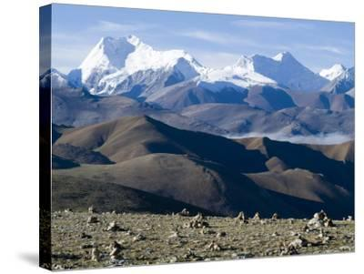 Himalaya Range, Tibet, China-Ethel Davies-Stretched Canvas Print