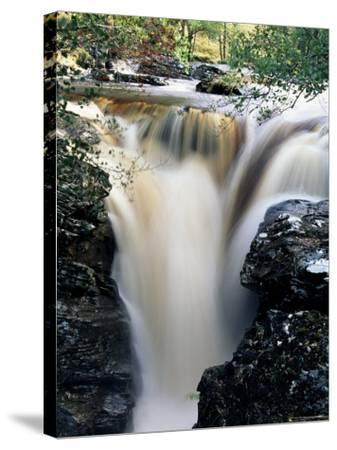Waterfalls on Dundonnell River, Wester Ross, Highland Region, Scotland, United Kingdom-Neale Clarke-Stretched Canvas Print