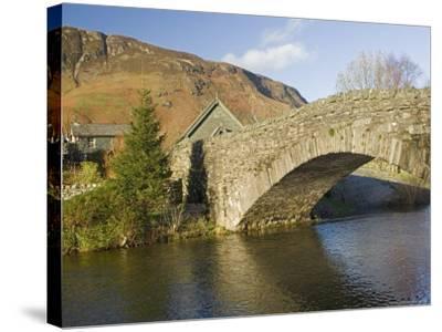 Grange Bridge and Village, Borrowdale, Lake District National Park, Cumbria, England-James Emmerson-Stretched Canvas Print