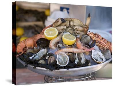 Seafood, Nice, Alpes Maritimes, Provence, Cote d'Azur, French Riviera, France-Angelo Cavalli-Stretched Canvas Print
