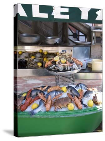 Seafood Restaurant, Nice, Alpes Maritimes, Provence, Cote d'Azur, French Riviera, France-Angelo Cavalli-Stretched Canvas Print