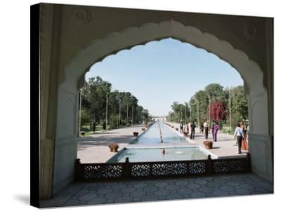 Shalimar Gardens, Unesco World Heritage Site, Lahore, Punjab, Pakistan-Robert Harding-Stretched Canvas Print