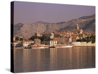 Korcula Old Town, Korcula Island, Dalmatia, Croatia-Peter Higgins-Stretched Canvas Print