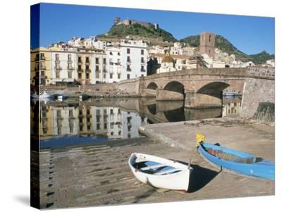 River Temo, Bosa, Nuoro Province, Sardinia, Italy-Ken Gillham-Stretched Canvas Print