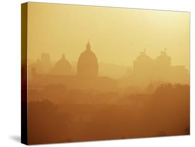 City Under Morning Fog, Seen from the Janiculum Hill, Rome, Lazio, Italy-Ken Gillham-Stretched Canvas Print