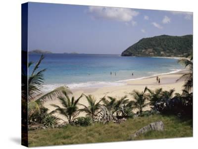 Beach at Anse Des Flamands, St. Barthelemy, Lesser Antilles, Caribbean, Central America-Ken Gillham-Stretched Canvas Print