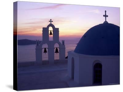 Greek Orthodox Church in Fira, Santorini (Thira), Cyclades Islands, Greece-Gavin Hellier-Stretched Canvas Print
