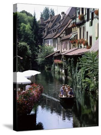 Petite Venise, Colmar, Haut-Rhin, Alsace, France-David Hughes-Stretched Canvas Print