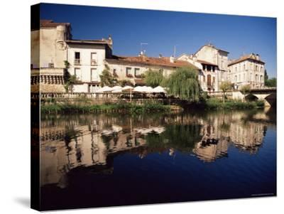 Brantome, River Dronne, Dordogne, Aquitaine, France-David Hughes-Stretched Canvas Print