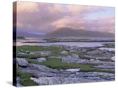 View Towards the Isle of Lewis and Old Schoolhouse, Taransay, Outer Hebrides, Scotland-Lee Frost-Stretched Canvas Print