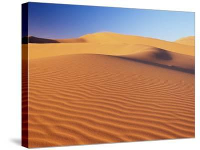 Sand Dune of the Erg Chebbi, Sahara Desert Near Merzouga, Morocco, North Africa, Africa-Lee Frost-Stretched Canvas Print