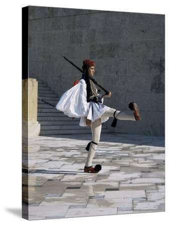 Republican Guard, Parliament, Syntagma, Athens, Greece-Christopher Rennie-Stretched Canvas Print