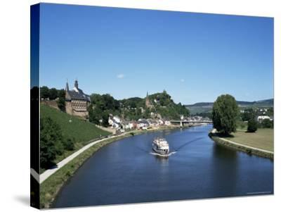 Old Town and River Saar, Saarburg, Rheinland-Pfalz (Rhineland Palatinate), Germany-Hans Peter Merten-Stretched Canvas Print