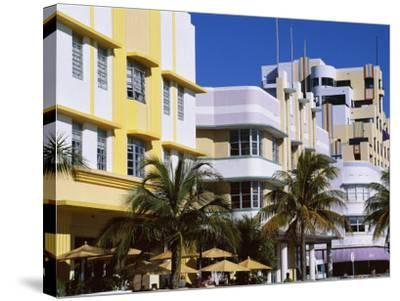Art Deco District, Ocean Drive, Miami Beach, Florida, United States of America (Usa), North America-Amanda Hall-Stretched Canvas Print