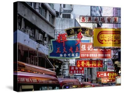 Causeway Bay, Hong Kong Island, Hong Kong, China-Amanda Hall-Stretched Canvas Print
