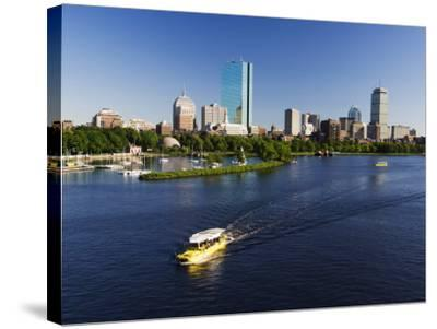 City Skyline Across the Charles River, Boston, Massachusetts, New England, USA-Amanda Hall-Stretched Canvas Print