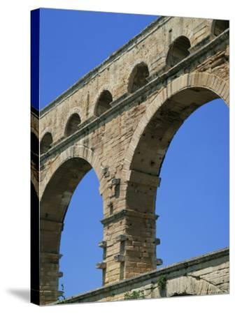 Pont Du Gard, Unesco World Heritage Site, Languedoc-Roussillon, France-Roy Rainford-Stretched Canvas Print