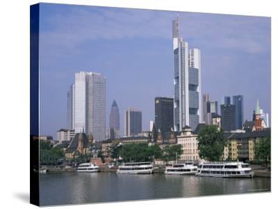 City Skyline, Frankfurt Am Main, Germany-Roy Rainford-Stretched Canvas Print