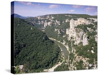 Ardeche Gorges, Languedoc Roussillon, France-John Miller-Stretched Canvas Print