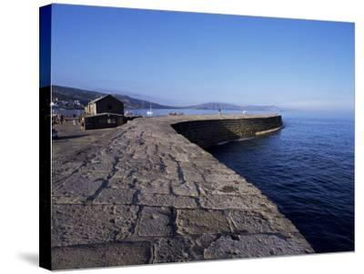 The Cobb, Lyme Regis, Dorset, England, United Kingdom-John Miller-Stretched Canvas Print