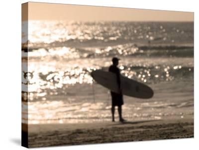 Bondi Beach, Sydney, New South Wales, Australia-Mark Mawson-Stretched Canvas Print