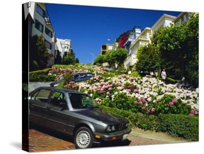 Lombard Street the Crookedest Street in the World, San Franscisco, Califonia, USA-Fraser Hall-Stretched Canvas Print