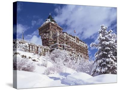 Palace Hotel, St. Moritz, Switzerland-John Ross-Stretched Canvas Print