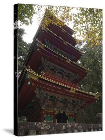 Pagoda at Toshogu Shrine, Nikko, Tochigi Prefecture, Japan-Christian Kober-Stretched Canvas Print