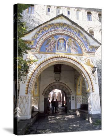 Samokov Gate of Rila Monastery, Unesco World Heritage Site, Rila Mountains, Bulgaria-Richard Nebesky-Stretched Canvas Print