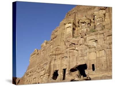 Corinthian Tomb, Petra, Unesco World Heritage Site, Jordan, Middle East-Sergio Pitamitz-Stretched Canvas Print