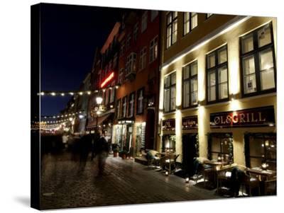 Nyhavn at Christmas, Copenhagen, Denmark, Scandinavia-Sergio Pitamitz-Stretched Canvas Print