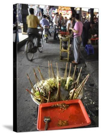 Skewers Cook in a Sichuanese Hotpot, Chengdu, China-Andrew Mcconnell-Stretched Canvas Print