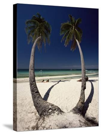 Beach on West Coast of Holiday Island off the Coast of Panay, Boracay, Philippines-Robert Francis-Stretched Canvas Print