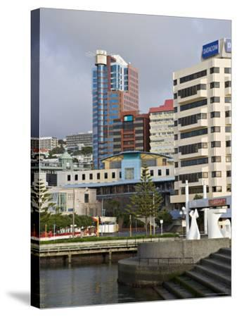Modern Architecture Around the Civic Square, Wellington, North Island, New Zealand-Don Smith-Stretched Canvas Print