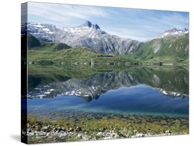 Tjongsfjorden, on Arctic Circle, Kystriksveien Coast Road, Norway, Scandinavia-Tony Waltham-Stretched Canvas Print