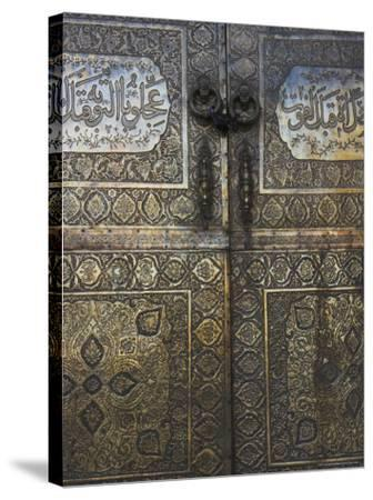 Bronze Doors in the Courtyard of the Friday Mosque or Masjet-Ejam, Herat, Afghanistan-Jane Sweeney-Stretched Canvas Print