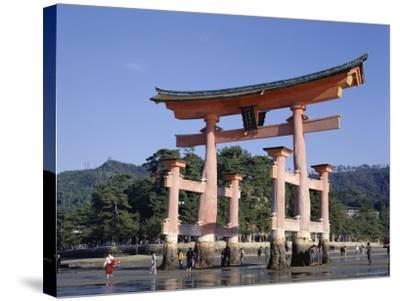The Great Torii from the Corridor of Itsukushima Shrine, Akino, Miya-Jima, Japan-Adina Tovy-Stretched Canvas Print